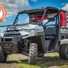 Front folding glass windshield for the Polaris XP 1000 Ranger
