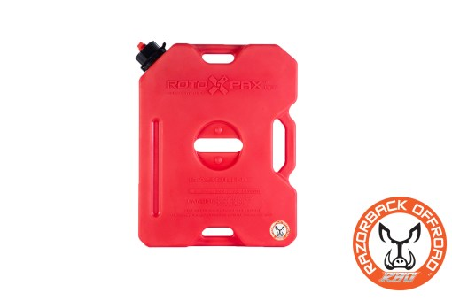 Sturdy plastic fuel canister for off road vehicles