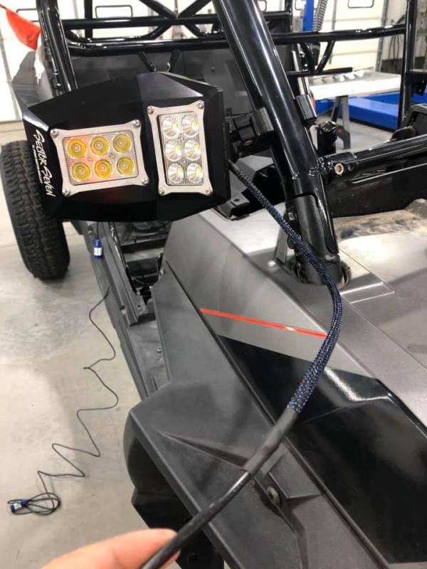 LED Side Mirrors Wiring for Polaris RZR Turbo S Custom UTV SEMA Build