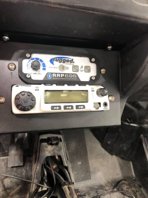 Rugged Radios Controls Panel for Polaris RZR Turbo S Custom UTV SEMA Build