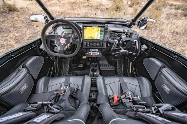 Driver's and Passenger's Seat and Dash for Polaris RZR Turbo S Custom UTV SEMA Build