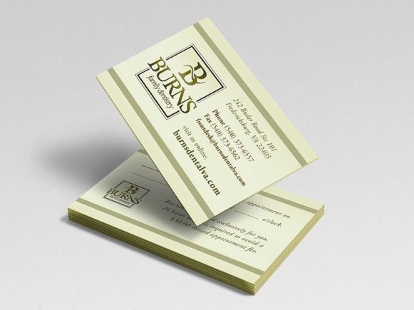 Burns Family Dentistry Business Cards