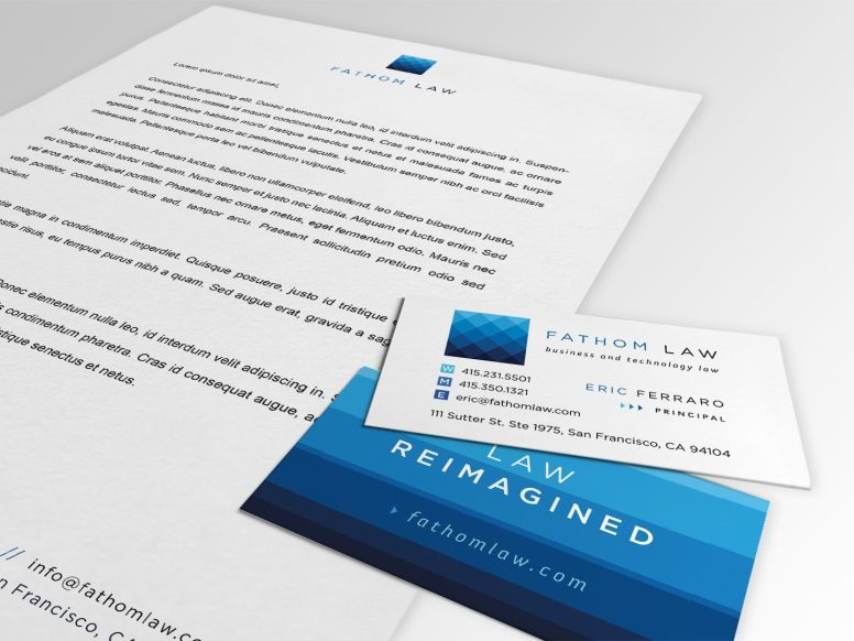 Fathom Law Letterhead and Business Cards