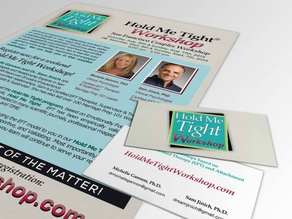 Hold Me Tight Workshop Flyer and Business Cards
