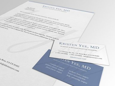 Kristen Yee MD Letterhead and Business Cards