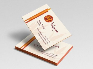 Takama Wellness Business Cards