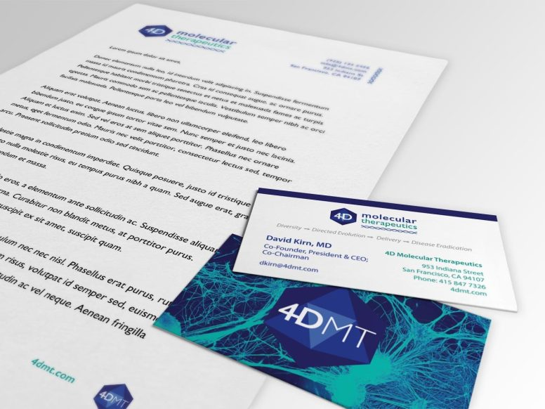 4DMT Letterhead and Business Card