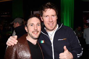 'Networking' with Ciaran 'Big C' O'Leary at the 2009 Paddy Power Poker Irish Open