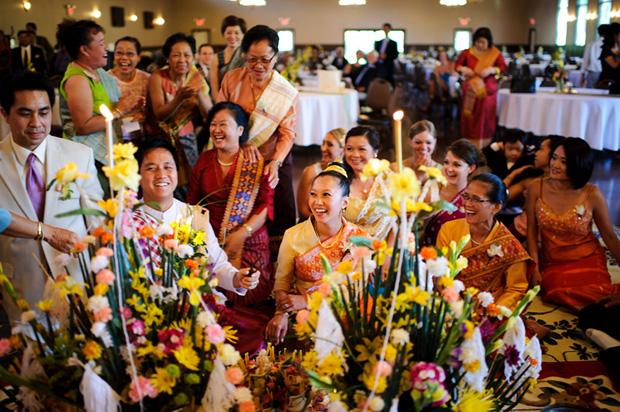 Lao Baci ceremony Bella Sala Iowa City