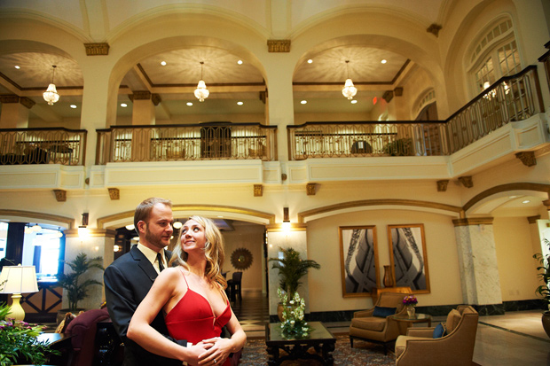 Blackhawk hotel Davenport engagement photography
