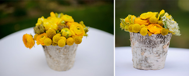 yellow flowers wedding centerpieces
