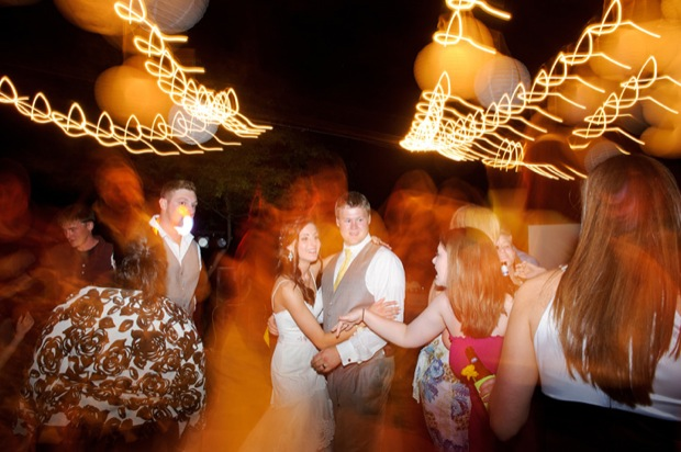 bride and groom on the dancefloor