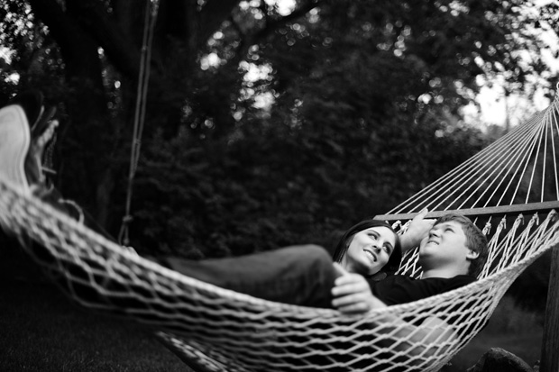 couple relaxin in a hammock