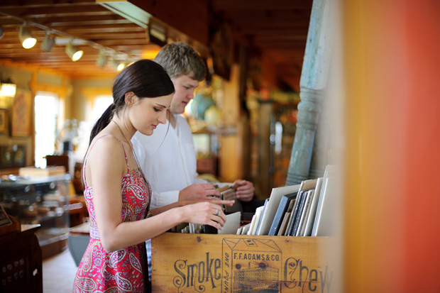 couple browsing through some pold records
