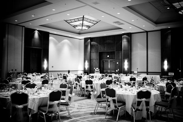Coralville Mariott wedding reception hall