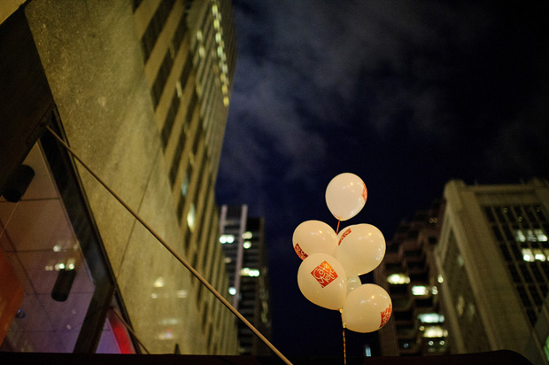 balloons on the street of nyc