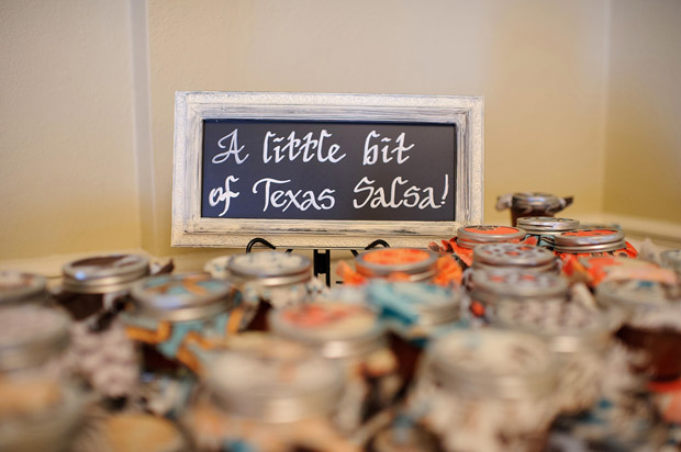 salsa jars as wedding favors