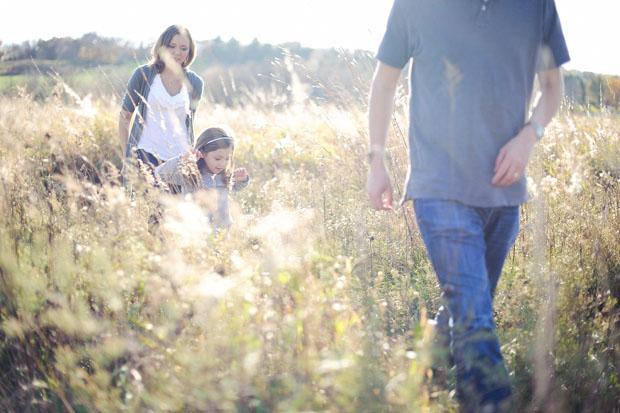 Walking in tal grass