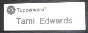 Tupperware Nametag