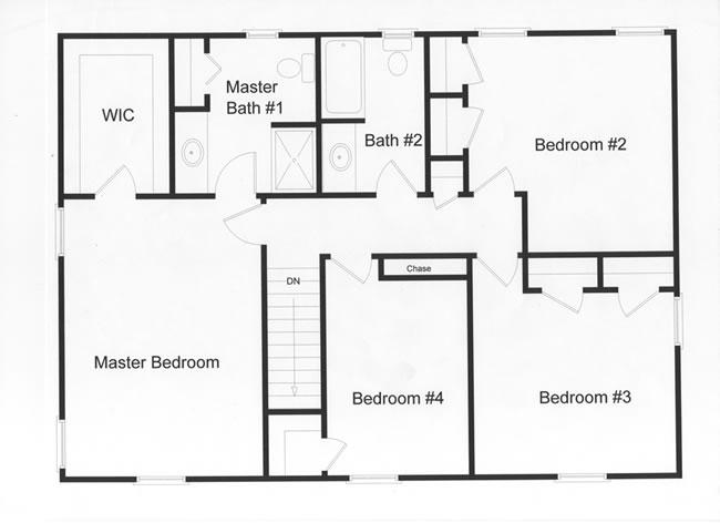 4 bedroom floor plans - monmouth county, ocean county, new jersey