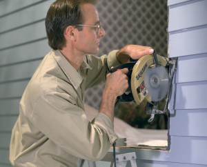 Cutting siding for replacement window installation