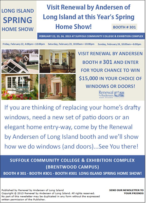 Renewal by Andersen of Long Island Home Show Announcement