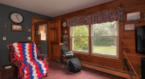 Interior of Long Island Log Cabin Replacement Windows