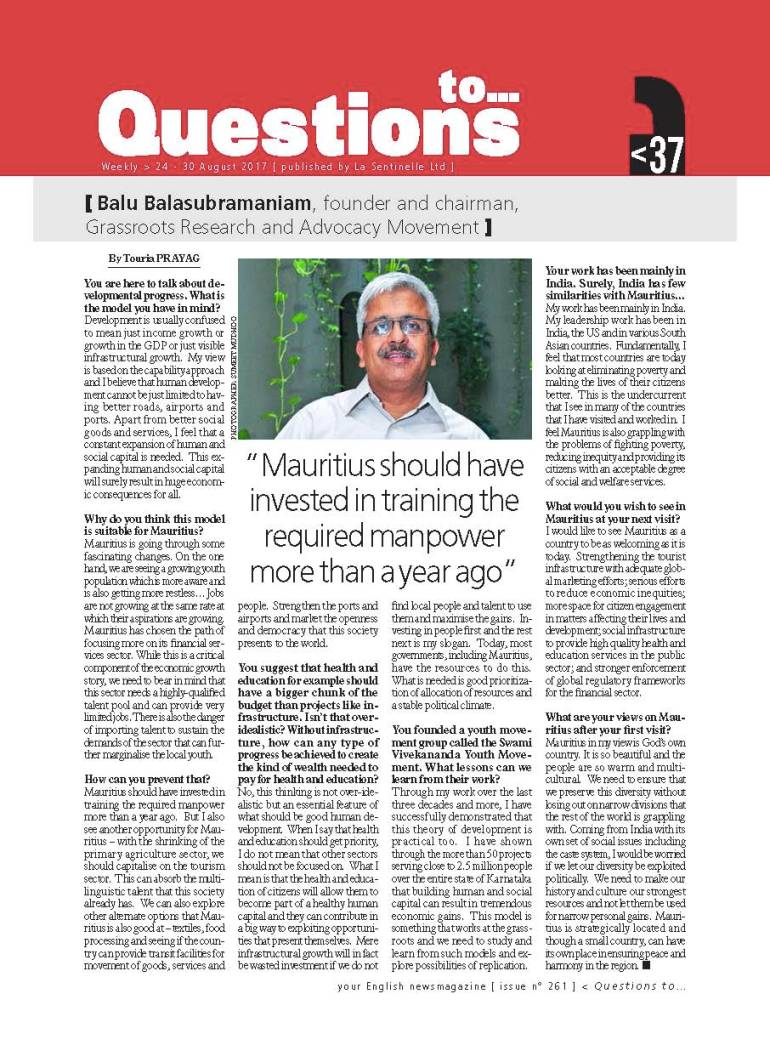 Mauritius Interview Aug17