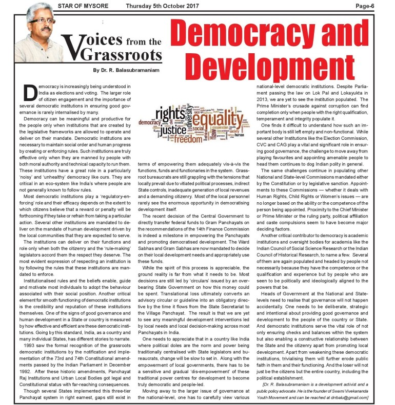 Democracy & Devlpt