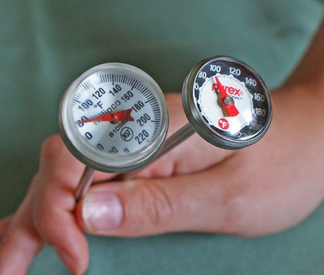instant read thermometers are great