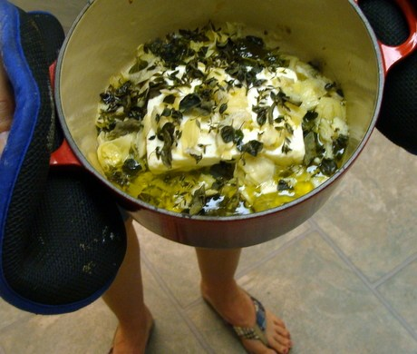 warm feta artichoke dip