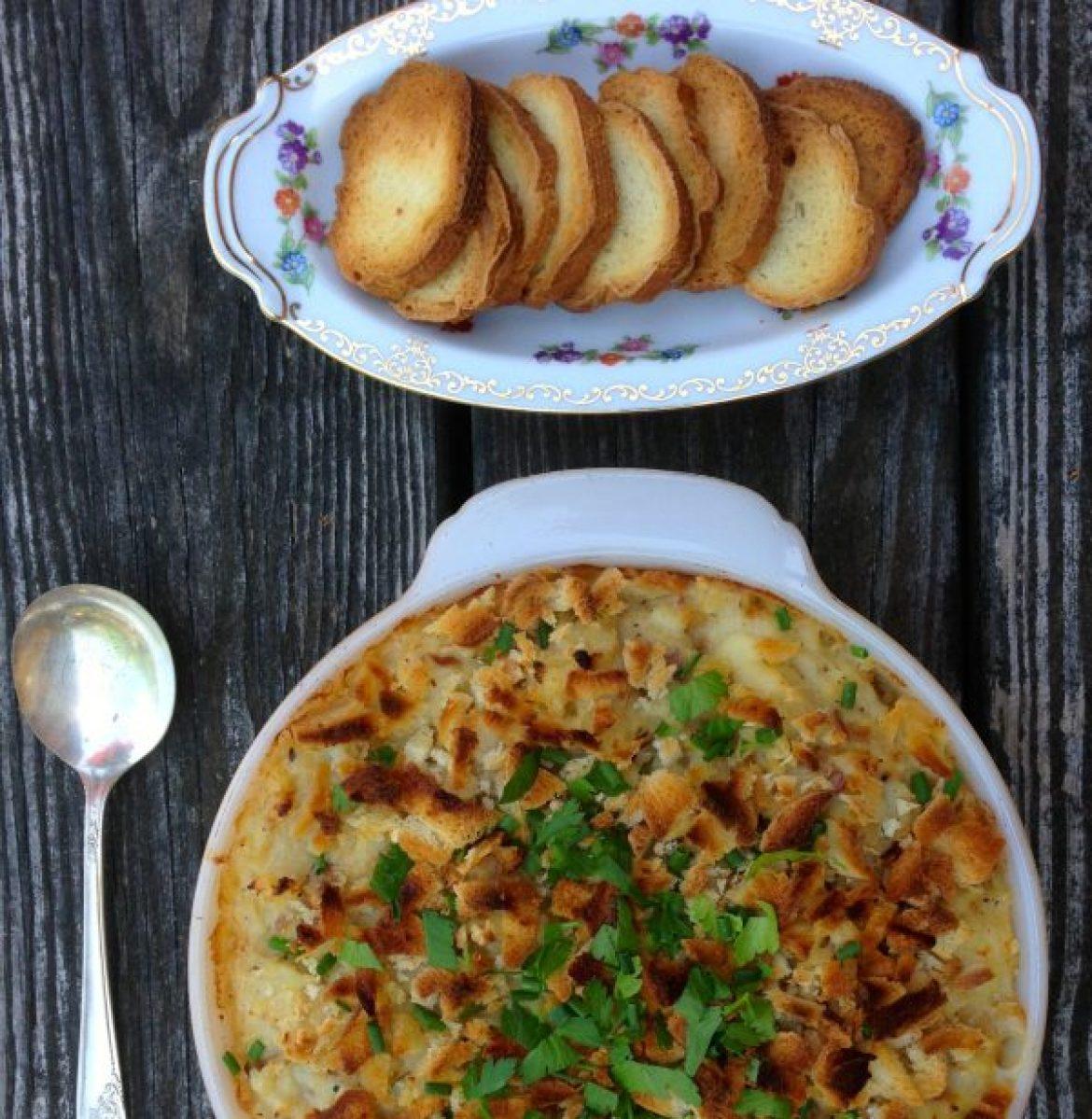 salt cod potato gratin