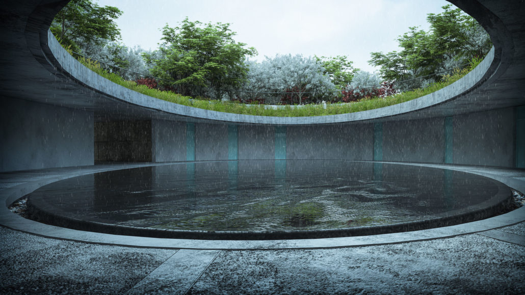 Tadao Ando Oval House  Ronen Bekerman  3D Architectural