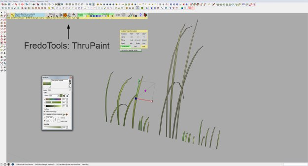 Sketchup grass texture mapping