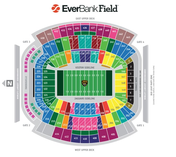 Hd Image Of Jaguars Vs Falcons Reply Advertit Jacksonville Seating Chart Everbank Field