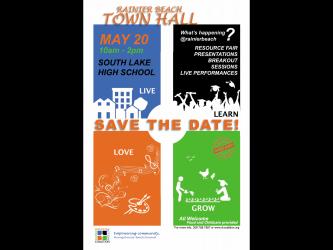 SAVE THE DATE: May 20 2017 Rainier Beach Annual Town Hall Meeting RBAC: Rainier Beach Action Coalition
