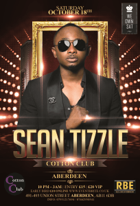 SEAN TIZZLE aberdeen club tour