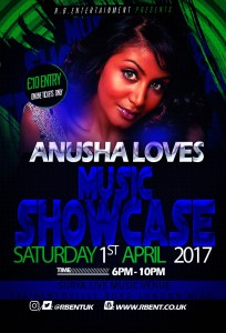 Anusha Loves Music showcase Flyer Acts