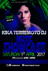 Kika Music showcase Flyer ACts