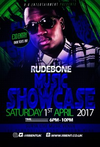 Rudebone Music showcase Flyer ACts