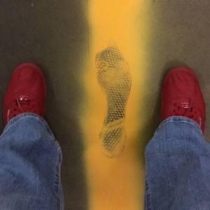 My big red feet.