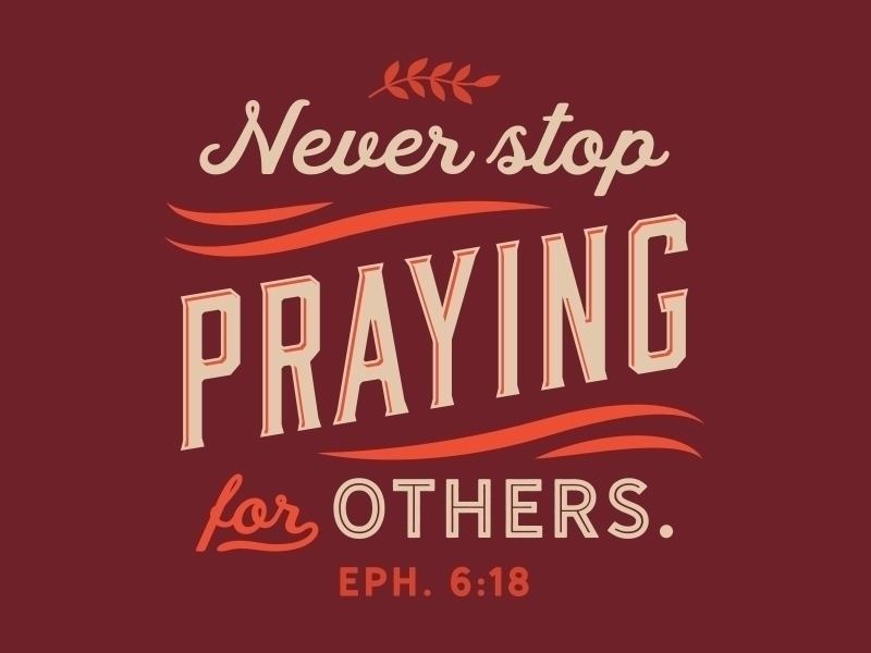Do we build up others through prayer?