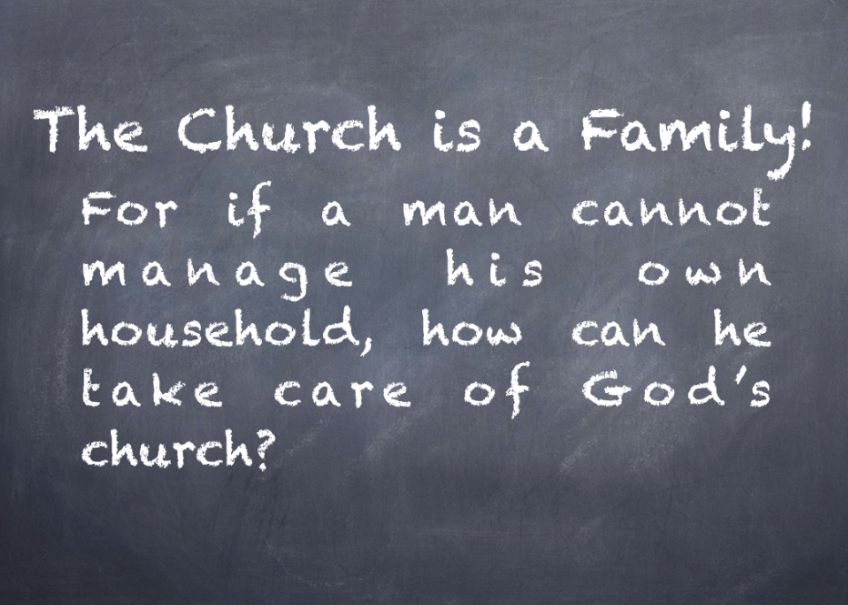 Why the family is the best testing ground for church leadership