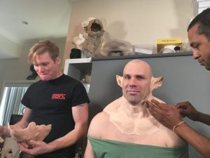 IMG 2761 300x225 - Ian Cromer & Lasander Washington applying RBFX prosthetics on Sidney Cumbie