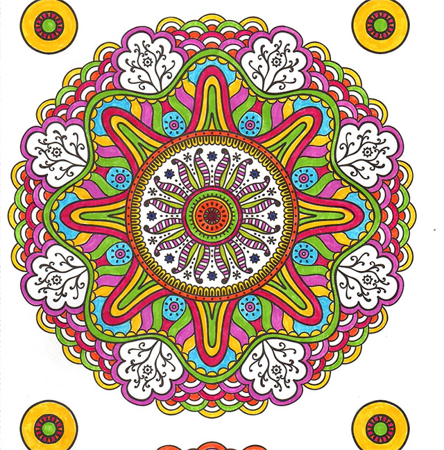 Different Types of Eating Disorders mandala