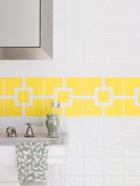 How to Paint Ceramic Tile - DIY Painting Bathroom Tile