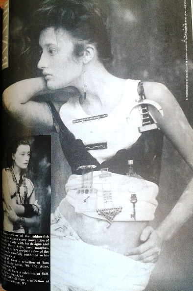 Vivienne Westwood clothes, Harper's February 1985