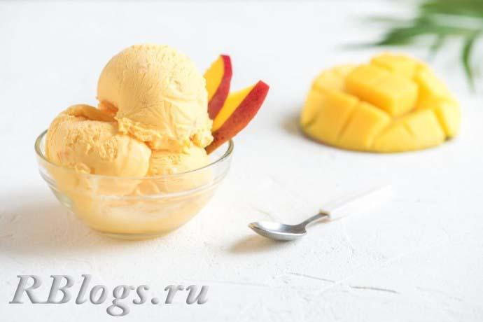 Gelato del mango