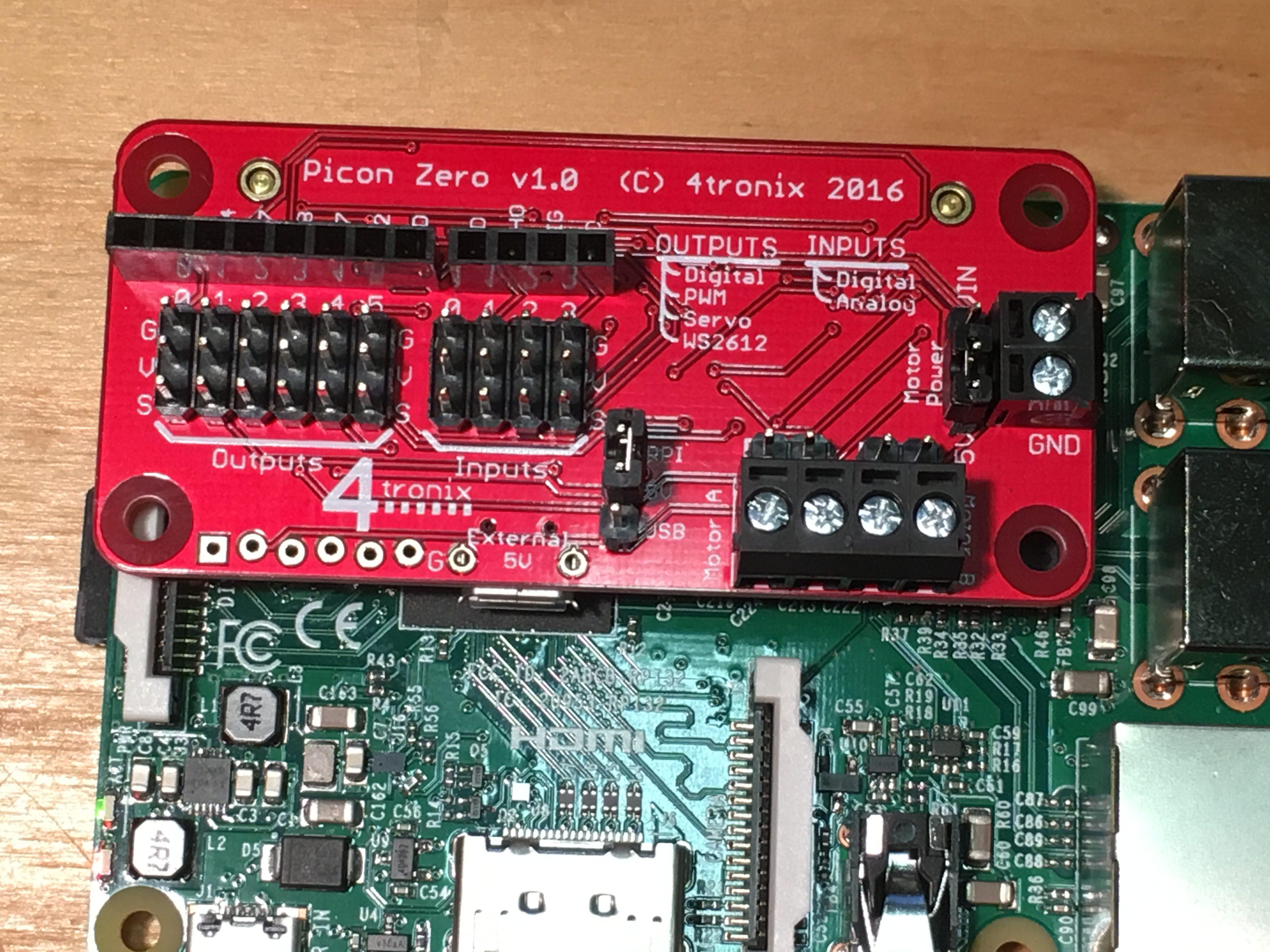 Ps3 Wireless Controlled Mearm Using Pi And 4tronix Picon Zero Board