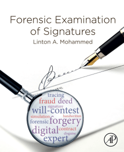 Forensic Examination of Signatures Cover